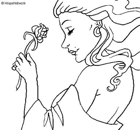 imagenes de rosas sin pintar dibujo de princesa con una rosa para colorear dibujos net