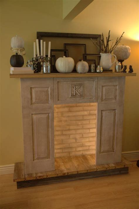diy faux fireplace house