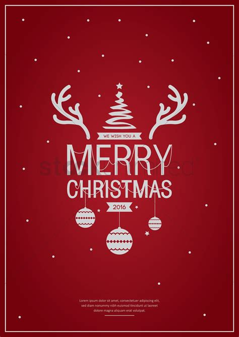 merry christmas poster design vector image  stockunlimited