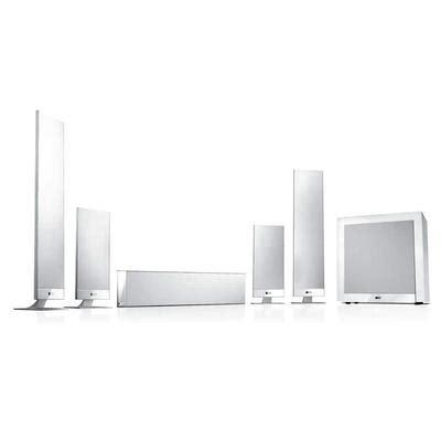 kef   home theatre speakers white  black