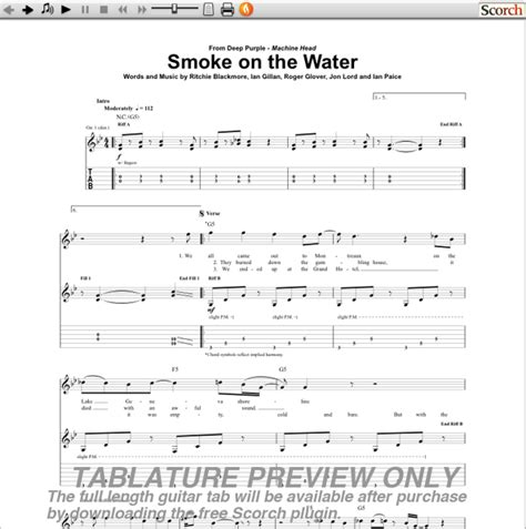 Deep Purple Smoke On The Water Tabs Guitar Pro - Karmashares LLC ...