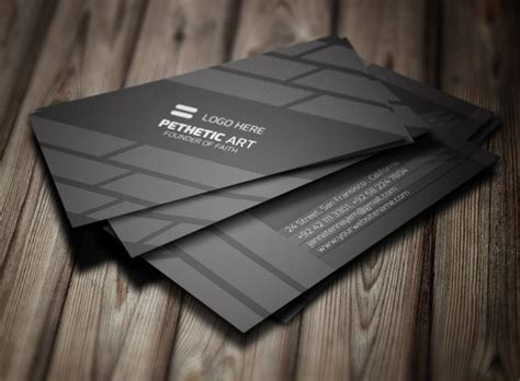 business card template psd 2015 free creative black business card template psd titanui