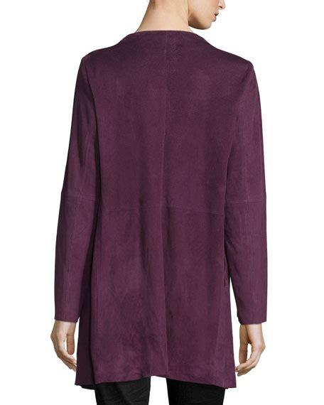 draped suede jacket eileen fisher fisher project draped suede jacket long