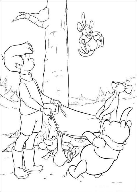coloring pages of christopher robin 30 free printable winnie the pooh coloring pages