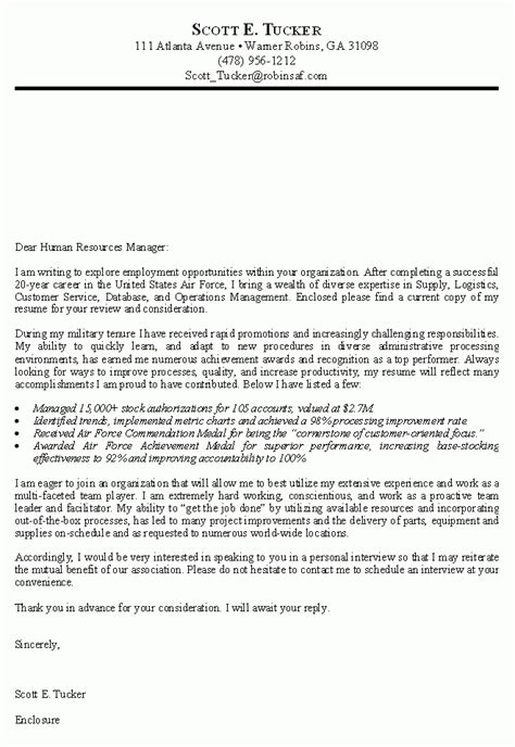 Cover Letter Usa by Cover Letter For Usa The Letter Sle