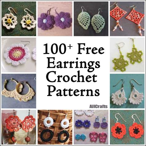 free craft patterns for 100 free crochet earrings patterns allcrafts free