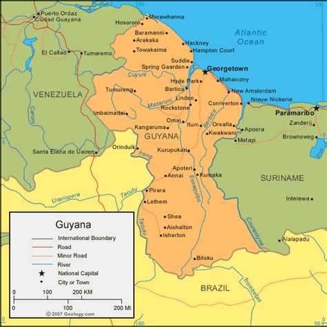 map of guyana south america map of guyana so many don t even this country