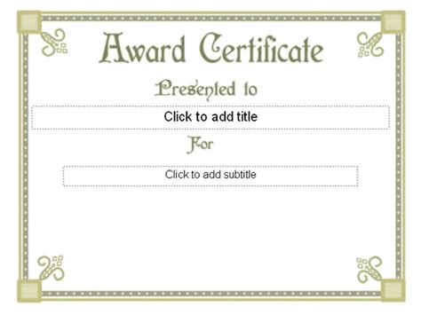 fancy certificate template templates certificates award certificate fancy design