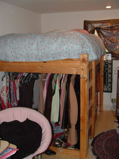 Closet Under Bed | loft bed with closet underneath plans plans diy free