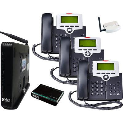 xblue x 50 voip telephone system bundle with 3 ip phones