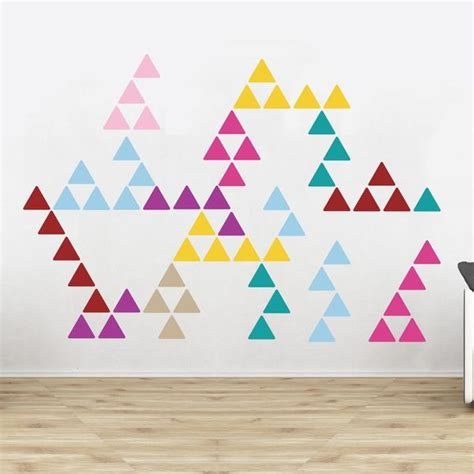 triangle pattern on wall triangle pattern wall stickers vinyl impression