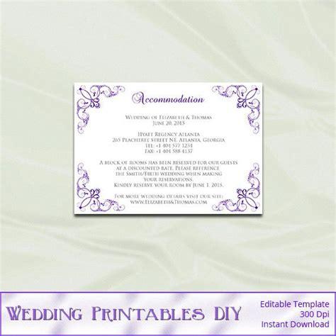 Wedding Enclosure Cards Template by Wedding Enclosure Card Template Diy By