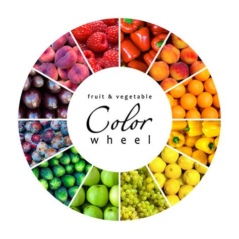 healthy colors color wheel fruit