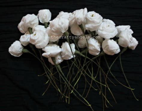homemade flowers how to make tissue paper rose flowers 8
