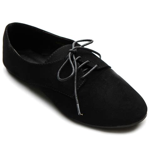 multi colored oxford shoes ollio womens ballet flat loafers faux suede oxford lace