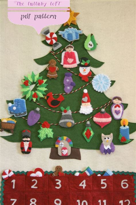 pattern for christmas tree advent calendar christmas tree advent calendar pattern 29 ornaments