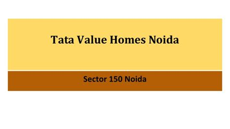 tata value homes noida 16