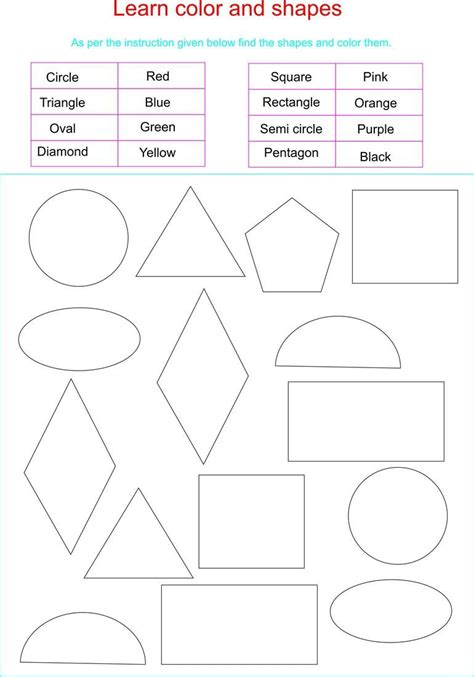 printable shapes and colors for toddlers toddler learning shapes and colors learn colors and
