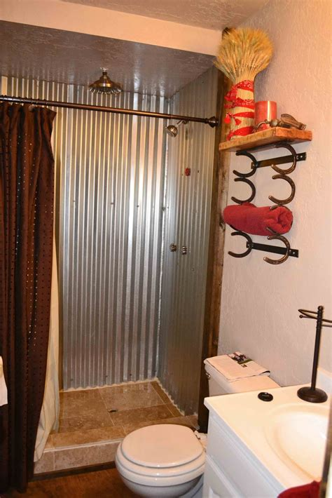 Using Corrugated Metal For Shower Walls by Babblings And More Bathroom Makeover
