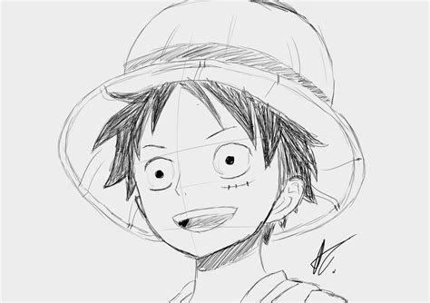 D Sketches by Monkey D Luffy Sketch 2 By Thehosner On Deviantart