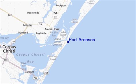 map port aransas texas port aransas surf forecast and surf reports texas usa