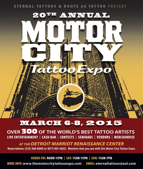 20th annual motor city tattoo expo 2015 tattoo shop finder