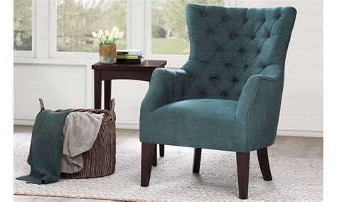 bench chairs for living room haynes furniture hannah tufted barrelback arm chair