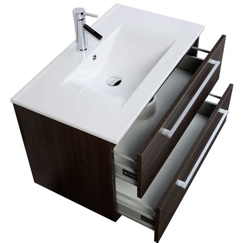 buy 32 inch wall mount modern bathroom vanity set oak rs