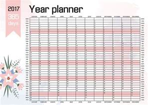 whole year calendar template year wall planner plan out your whole with this 2017