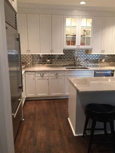 mirror tile backsplash kitchen best 25 mirrored subway tiles ideas on small