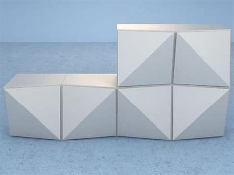 Origami Shelving Unit - origami storage unit 3d model reflex angelo