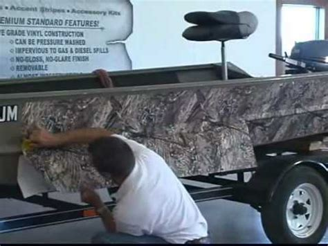 camo clad for boats part 3 of 4 how to videos boat camouflage install