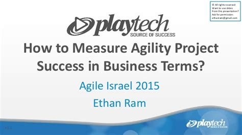 how to agility how to measure agility project success in business terms
