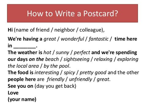 how to make a post card postcards