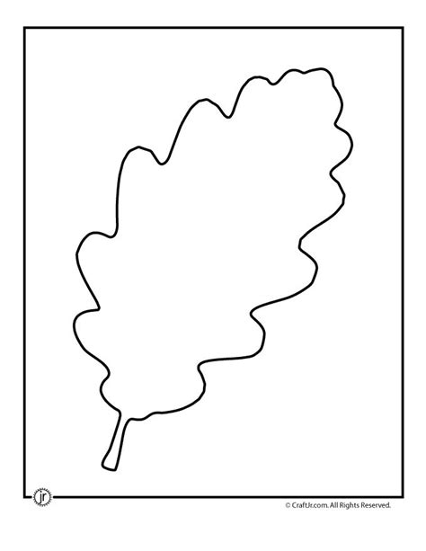 oak leaf template free grape leaf shapes coloring pages