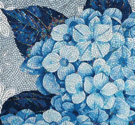 flower design floor tiles sicis flower power blue floral mosaic sicis mosaic