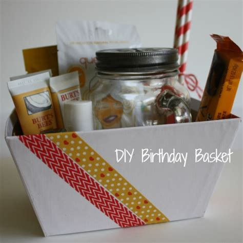 birthday presents for diy diy birthday basket gift anchored