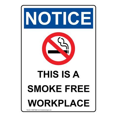 printable osha stickers no smoking signs and labels osha notice
