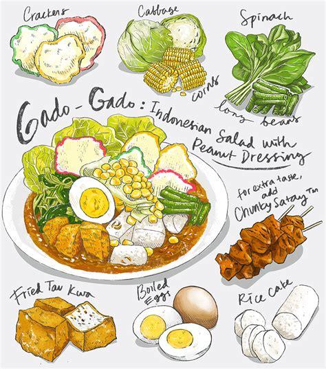 illustration cuisine gado grill recipe illustration on behance