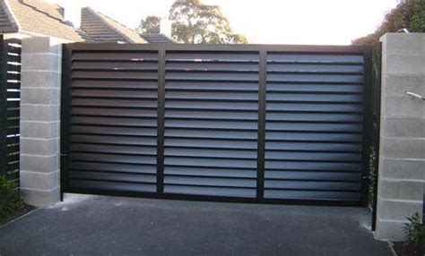 Residential Home Design by Automatic Domestic Sliding Gates Magic Door Industries