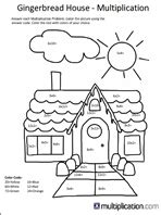 Free christmas multiplication coloring worksheets multiplication