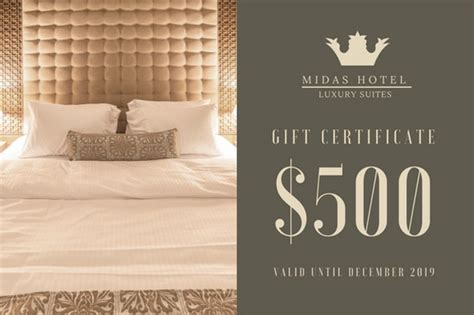 hotel gift certificate template hotel gift certificate templates by canva