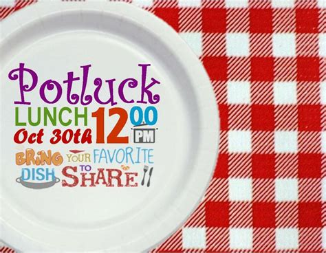 potluck lunch invitation printables pinterest