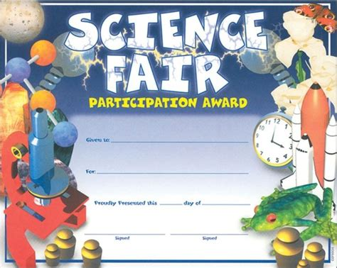 science fair participation certificate template 14 best images about science fair on glow