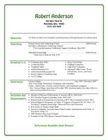 middle school resume template best photos of entry level resume exles high school