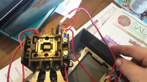 start stop  phase motor starter wiring youtube