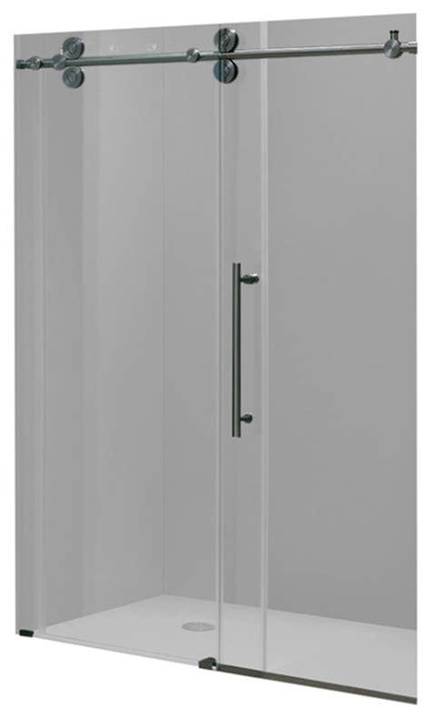 Vigo Elan 68 Quot Frameless Shower Door Clear Glass And Frameless Shower Door Kit