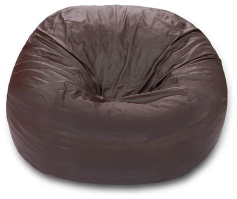 Memory Foam Bean Bag Chair by 6 Ft Comfy Sack Memory Foam Bean Bag Chair Brown Faux