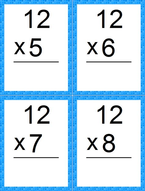 free printable math flash card maker number 12 images cliparts co