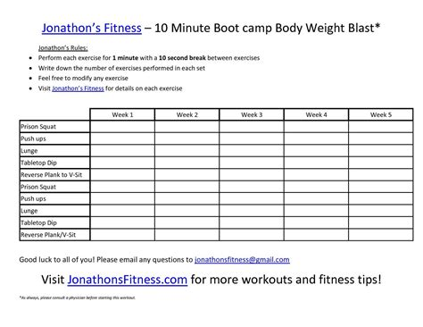 printable workout plan for the gym jonathon s fitness site printable workout routine